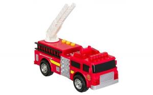 Masinuta de jucarie cu sunete si lumini. model pompieri. rosu. 19x9x9 cm