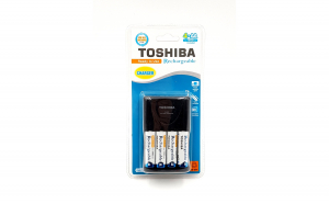 Incarcator R3/R6 + Set acumulatori R6/AA 1950mAH Toshiba