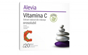 Vitamina C Extract natural din Macese orosolubil cu Stevie