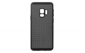 Husa perforata, Samsung Galaxy S9+ Plus, Plastic, Negru