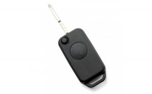 Mercedes-Benz - Carcasă cheie tip briceag 1 buton, lamă 2 piste