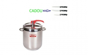 Oala sub presiune din inox Zilan ZLN-6232, capacitate 14 litri+ Cadou set 3 cutite inox, 3 piese