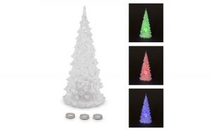 Pom de Craciun LED, acril, 12 cm