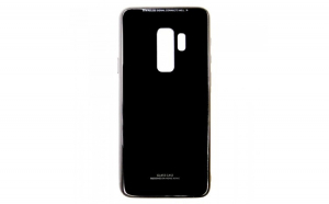 Husa Glass Case -Samsung A6 Plus (2018), Negru