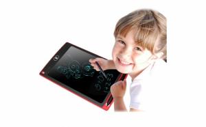 Tablita LCD pentru copii si adulti, 8.5 inch, cu stylus pentru notite si buton de stergere instant