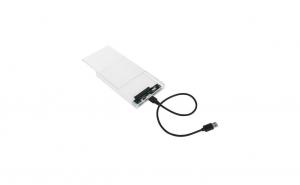 Rack Extern HDD SATA, 2.5'', USB 3.0, Transparent