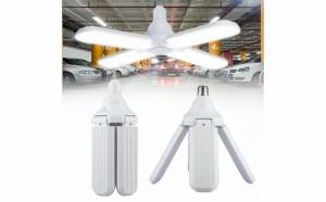 Bec pliabil tip-elice cu 4 brate ajustabile, LED, 60W