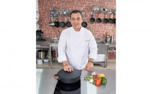 Tigaie adanca aluminiu cu capac, 28x8.5 cm, 4.5L, Taste of Home by Chef Sorin Bontea