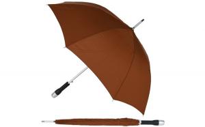 Umbrela mare, automata, maner siliconat, aderent, d 120 cm, unisex, maro