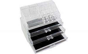 Organizator transparent cu 3 sertare