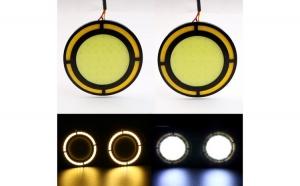 Set 2 Lumini de zi cu semnalizare LED COB A748