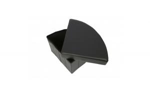 Taburet cu Spatiu Depozitare, 37x37x38 cm, piele ecologica,negru