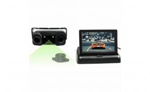 Set - Monitor auto LCD TFT 4.3 inch + Sistem de parcare 2 in 1 cu senzori incorporati