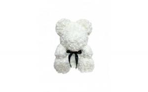 Ursulet din trandafiri, 40cm, alb, Gonga