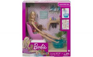 Barbie set cu papusa la salonul de