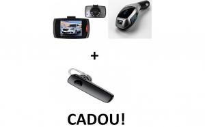 Pachet auto: Camera auto martor + Modulator x7 + Cadou casca bluetooth