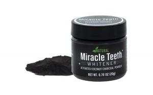 Pudra pentru albirea dintilor din carbune activ cu cocos - Miracle Teeth