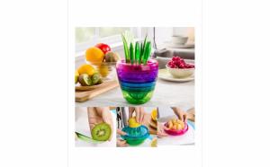 Storcator manual de fructe multifunctional cu 8 piese