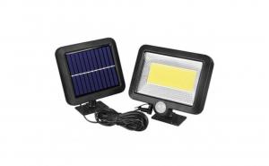 Lampa solara 100 LED cu panou solar si