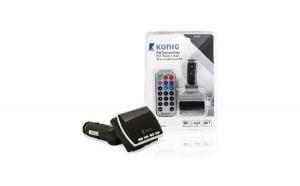 Modulator FM negru cu telecomanda, Konig