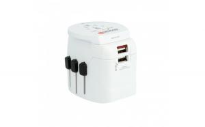 Adaptor priza universal Skross Pro Light USB World 1.302550