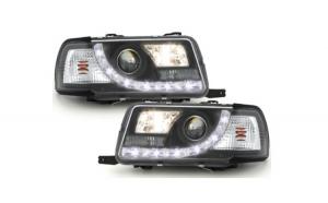 Set 2 faruri DAYLINE compatibil cu AUDI 80 B4 Limousine /Avant (1991-1994) LED DRL Look Negru