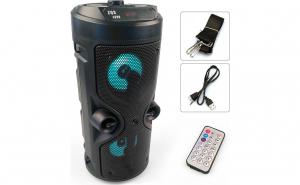 Boxa portabila 90W ZQS-4209 cu bluetooth, lumini led, telecomanda, intrare microfon