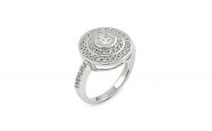 Inel argint 925 cu zirconii