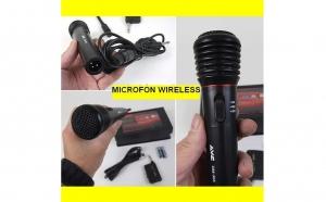 Microfon Wireless fara fir sau cu fir - Karaoke la tine acasa