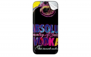 Folie protectie spate HTC One M8 Absolut Vodka