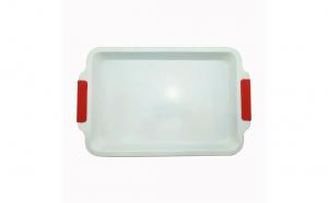 Tava ceramica pentru prajituri, 30 x 26.5 cm, multicolor