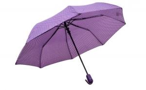 Umbrela dama, pliabila, automata, buton deschidere, mov cu buline, 110cm diametru, articulatii anti-vant la doar 24.99 RON