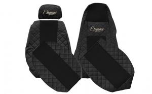 Set huse scaun Scania R G P 2016 negru - scaune diferite