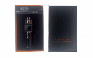 Bricheta electrica cu incarcare USB, cablu inclus, anti-vant, culoare maro