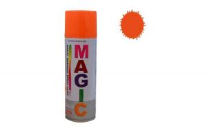 Vopsea spray Magic, portocaliu, fluorescent, 400 ml