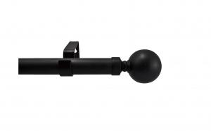 Galerie extensibila din otel, pentru perdea, 180-340 cm, grosime 25-28 mm, negru, Vivo, G180/340BL