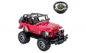 Masinuta de jucarie cu telecomanda tip volan. model jeep off road. rosu. 40x29x15 cm