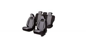 Huse scaune auto RENAULT CLIO 1998-2010  dAL Racing  Gri/Negru,Piele ecologica + Textil