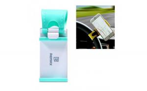 Holder smartphone REMAX pentru volanul masinii   blue