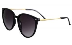 Ochelari de soare Rotunzi S Mov inchis - Negru