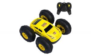 Masinuta de jucarie cu telecomanda. model cu rotire 360º. galben. 15x13x6cm