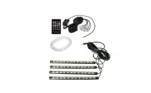 KIT FIR NEON LED RGB + BANDA LED RGB 22CM CU TELECOMANDA RF. BOFIR01 12V