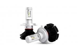 Set becuri Led auto H7 X3, Super white Auto 9-32V/ 6000 Lumeni, chip ZES - Philips, Culoare 3000K/6500k/8000k