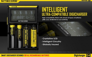 Incarcator inteligent Nitecore Digicharger D4, la 135 RON in loc de 270 RON