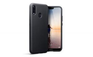 Husa protectie slim, Huawei P20 LITE, Silicon, Negru
