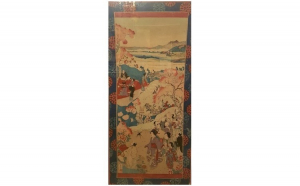 Peisaj cu personaje, stampa japoneza, Produse Noi