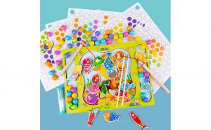 Joc Montessori 2 in 1 Pescuit Magnetic