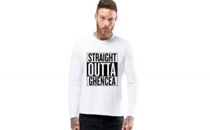 Bluza barbati alba - Straight Outta Ghencea