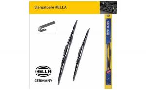 Set stergatoare parbriz Hella 525/525 mm Symbol 1, Clio 1, A4, Z8, Passat, Grand Cherokee