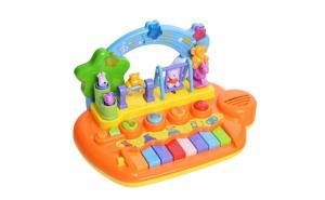 Pian muzical pentru copii, cu animalute amuzante